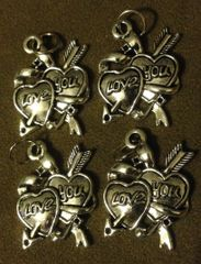 472. Double Heart with 'Love You' Pendant