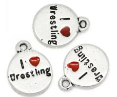 73. I 'heart' love Wrestling Pendant