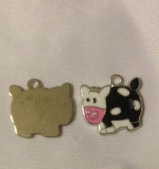 1145. Enameled Cow Pendant