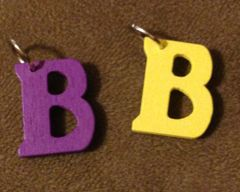 929. Wood Letter B Pendant