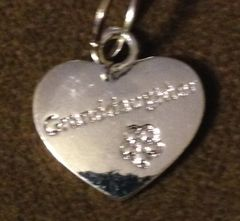 967. Granddaughter Heart with Flower Pendant