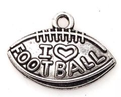 "56. I 'heart' love Football ""Football"" Pendant"