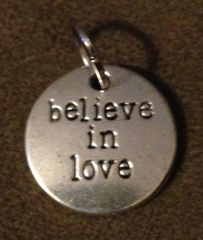 987. Believe in Love Pendant