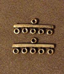 789. Bronze 5 Hole Connector Pendant