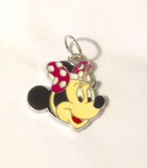 1262. Minnie Mouse with dotted Bow Pendant