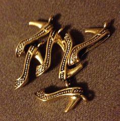 377. Gold High Heel Shoe Pendant