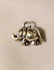 1430. 2 sided Elephant Pendant