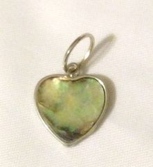 1202. Small Abalone Shell Heart Pendant