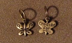 661. 'created for you' Butterfly Pendant