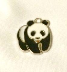 1365. Enameled Panda Bear Pendant