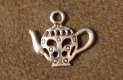 845. Flat 2 sided Teapot Pendant