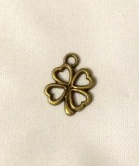 97. Antique Bronze Four Leaf Clover Pendant