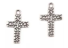 335. Crackled Cross Pendant