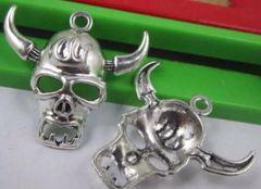 265. Skull with Horns Pendant