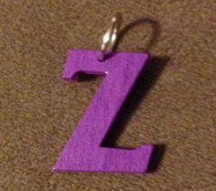 953. Wood Letter Z Pendant