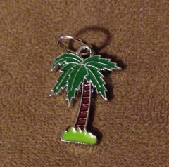 559. Enameled Palm Tree Pendant
