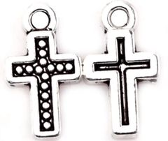 339. Small Outlined Dotted Cross Pendant