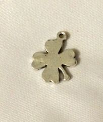 903. Solid Four Leaf Clover Pendant with stem