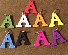 928. Wood Letter A Pendant