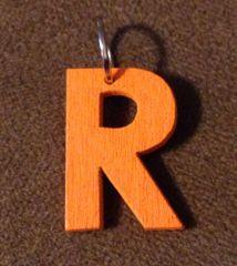 945. Wood Letter R Pendant