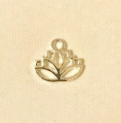 1769. Bright Silver Lotus Flower Pendant