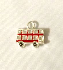 1297. British Double Decker Bus Pendant