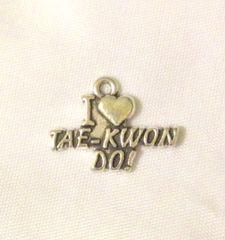 1231. I Love Tae Kwon Do Pendant