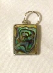 1201. Abalone Shell Rectangular Pendant