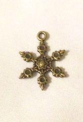 1486. Bronze Snowflake Pendant