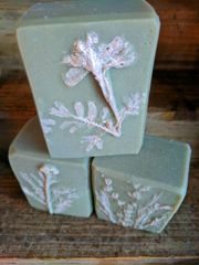 Mistletoe Botanical Relief Design Soap