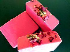 Raspberry Rose Hibiscus Tea Handmade Soap