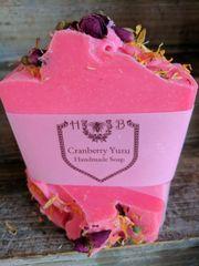 Cranberry Yuzu Scented Handmade Soap