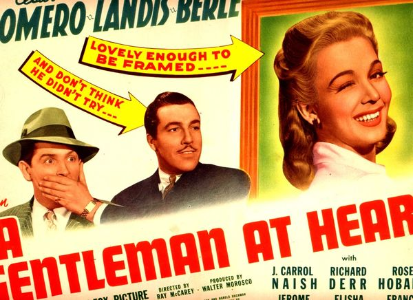 A Gentleman at Heart Cesar Romero, Carole Landis, and Milton Berle (1942) DVD