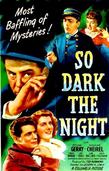 So Dark the Night (1946) DVD