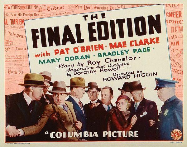 Final Edition (1932) Pat O'Brien, Mae Clarke