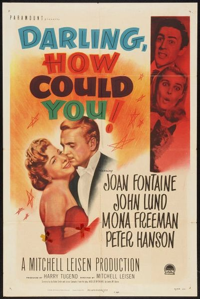 Darling, How Could You? Joan Fontaine, John Lund, Mona Freeman (1951)