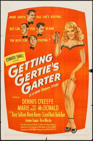 Getting Gertie's Garter (1945) Marie MacDonald, Dennis O'Keefe, Barry Sullivan, Binnie Barnes