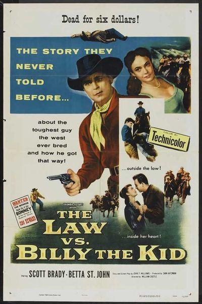 Law vs. Billy the Kid Scott Brady, Betta St. John, Benny Rubin, Alan Hale/DVD /1954