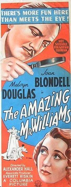 The Amazing Mr. Williams (1939) DVD
