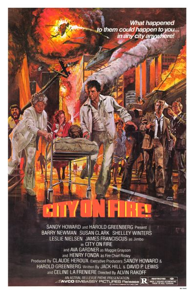 City on Fire Barry Newman, Susan Clark, Shelley Winters, and Leslie Nielsen (1979)