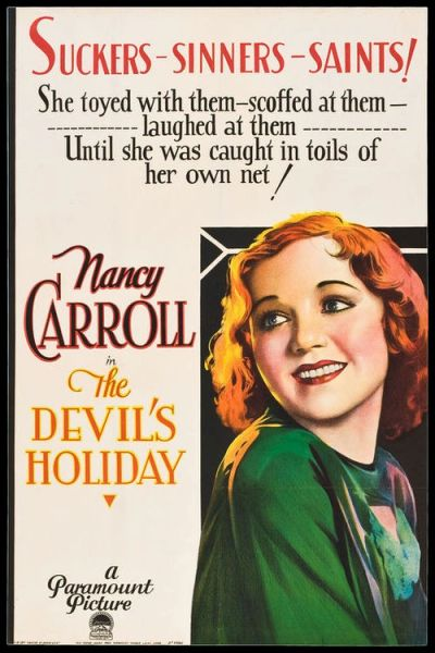 Devil's Holiday (1930) DVD