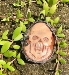 Skull Cameo with Diamond Bone Surround