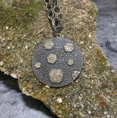 Zinc with Diamond Hexagons Pendant