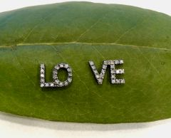 LOVE Diamond Stud Earrings