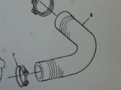 M151 JEEP RADIATOR HOSE 8754815 NOS