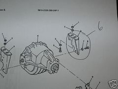 M998 FRONT DIFFERENTIAL MOUNT BRACKET 5597123 NOS