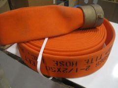 "1 ORANGE SNAP TITE FIRE HOSE 2-1/2"" X 50' NEW"
