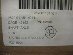 M900 SERIES HEMTT AXLE SHAFT 1306970, 2520-01-151-4011 NOS