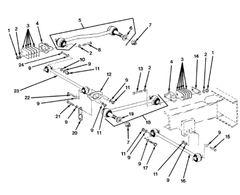 M977 FRONT STEERING TIE ROD 47512-3 NOS