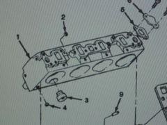 M1008 M1009 CYLINDER HEAD 14071072 5742170 NOS